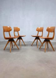 Vintage design swivel chairs eetkamer stoelen Casala