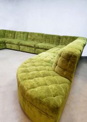 vintage design sofa green seating group elements