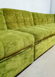 midcentury sofa lime green velvet bank seating group lounge bank