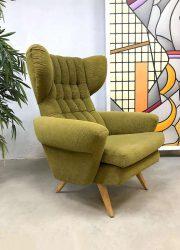 Vintage Scandinavian design wingback chair oorfauteuil