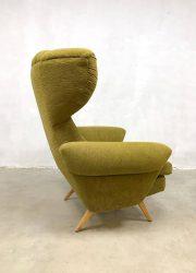 midcentury vintage design wingback chair oorfauteuil