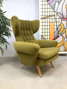 Vintage Scandinavian design wingback chair oorfauteuil
