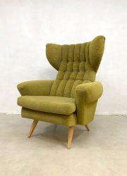 vintage oorfauteuil wingback Scandinavian chair oorfauteuil