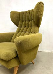 Midcentury Danish design oorfauteuil wingback chairs