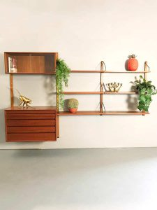 Vintage design wall unit wandsysteem Poul Cadivious Royal system