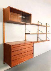 vintage midcentury modern wall unit P. Cadovius Royal wandkast cabinet