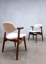 vintage cowhorn chairs Tijsseling Dutch design eetkamerstoelen