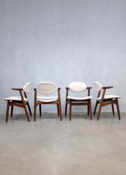 vintage dutch design chairs eetkamerstoelen cowhorn Tijsseling koehoorn