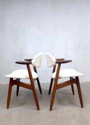 midcentury modern chairs dining chairs eetkamerstoelen cowhorn koehoorn vintage