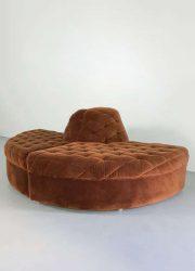 vintage sofa chocolate brown elementen bank modulair