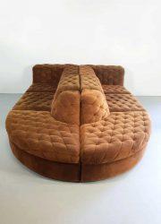 midcentury modular sofa brown velvet elementen bank