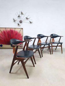Midcentury design cowhorn chairs koehoornstoelen Louis van Teeffelen