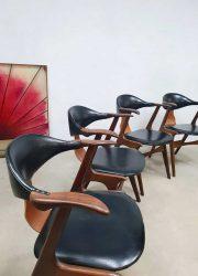 vintage dutch design stoel stoelen Louis van Teeffelen cowhorn chairs koehoornstoelen