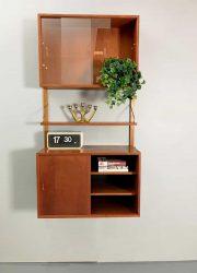 vintage Dutch design wandsysteem Poul Cadovius wall unit Royal system