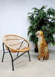 vintage Dutch design Rohe Noordwolde rattan chair rotan stoel 4
