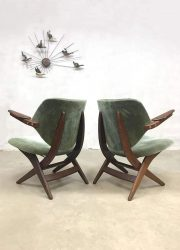 Vintage Dutch design Pelican lounge fauteuil Webe Dutch design scissor chair