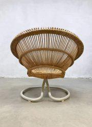 midcentury design Jan Dirk Rol fauteuil Janine Abraham bamboo stoel