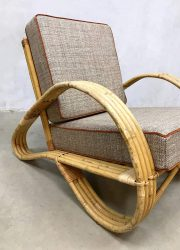 vintage midcentury modern bamboo rattan chair rotan bamboe fauteuil