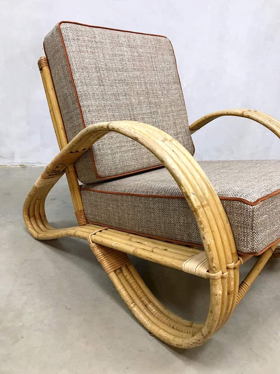 Design Bank Fauteuil.Vintage Design Rattan Armchair Lounge Fauteuil Rotan Stoel Paul