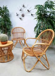vintage dutch design rattan chairs rotan stoelen