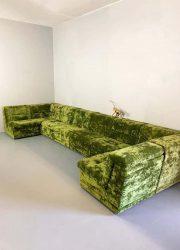 vintage modular seating sofa group modulaire bank green velvet