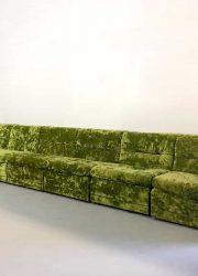 Seating group velvet modular elements groene modulaire elementen bank design vintage