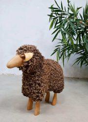 Vintage sheep stool/ottoman/voetenbank Hanns Peter Krafft Meier