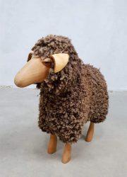 vintage sheep ottoman Peter Krafft Meier stool