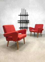 midcentury design easy chairs armchairs Tatra Czech Republic stoelen