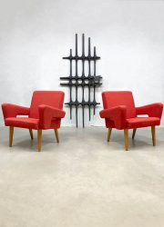 Vintage Czech design armchairs lounge fauteuils Tatra