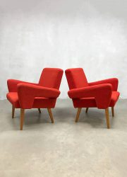 midcentury arm chairs lounge fauteuils Tatra