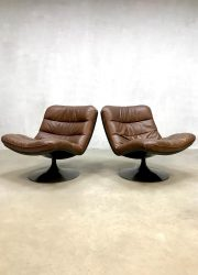 Vintage design swivel chair Artifort F976 Geoffrey Harcourt draaifauteuil 1