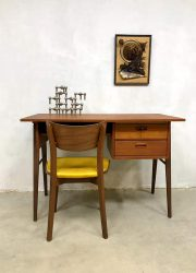 Midcentury Dutch design teak desk vintage bureau