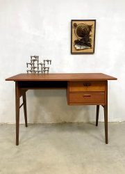 vintage desk teak wood bureau Danish design