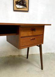 vintage desk midcentury bureau teak wood
