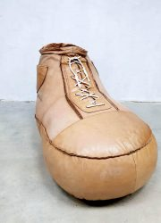 Vintage De Sede leather sneaker shoe Bean Bag ottoman footstool zitzak kids