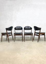 midcentury design chairs cowhorn style eetkamerstoelen