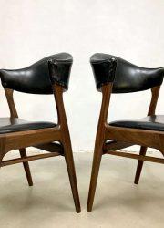 midcentury modern eetkamerstoelen dining chairs Danish design
