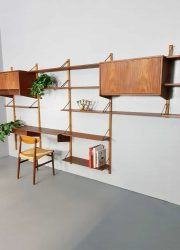 Vintage Danish design modular wall unit modulair wandsysteem