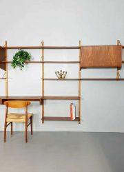 midcentury vintage design wandkast wall unit modular Danish Scandinavian modern