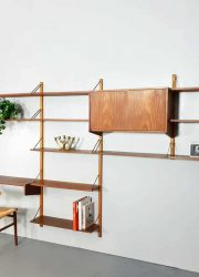 vintage design modular wall unit Poul Cadovius style