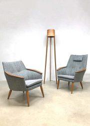 midcentury design arm chairs Scandinavian design lounge chair Dutch vintage