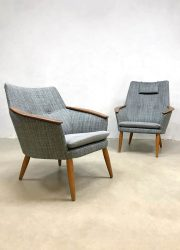 Bovenkamp easy chairs vintage design lounge fauteuils Madsen Schubell