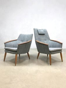 Vintage Dutch design armchairs fauteuils Bovenkamp Madsen & Schubell