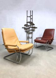 vintage seventies easy chairs armchair Jan de Bouvrie Gelderland