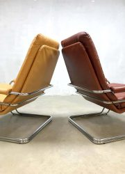 vintage Dutch design arm chairs Gelderland Jan des Bouvrie model 301