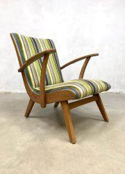 vintage Dutch design armchair lounge fauteuil stripes 2