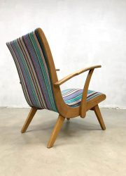 vintage Nederlands fauteuils stoelen easy chairs arm chairs
