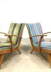 vintage fauteuils colors arm chairs Dutch design