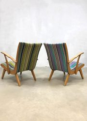 vintage chairs fifties sixties Dutch design armchairs easy chairs